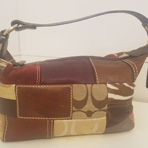 Coach Holiday Patchwork Mini Pouch